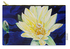Carry-all Pouch featuring the painting A Waterlily by Marilyn  McNish