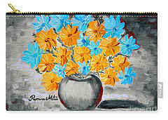 Carry-all Pouch featuring the painting A Whole Bunch Of Daisies Selective Color II by Ramona Matei