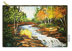 A Winding Creek In Autumn Carry-all Pouch