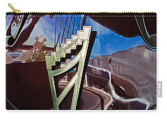 Carry-all Pouch featuring the photograph A Window Guitars View Of The Street by Gary Slawsky
