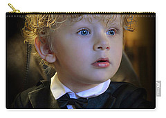 Carry-all Pouch featuring the photograph A Young Gentleman by Ally  White