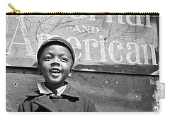 A Young Harlem Newsboy Carry-all Pouch by Underwood Archives