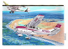 Cessna 206 And A1a Husky Carry-all Pouch by Jack Pumphrey