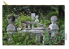 Carry-all Pouch featuring the photograph Abandoned Cemetery 2 by Cathy Mahnke