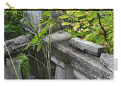 Carry-all Pouch featuring the photograph Abandoned Cemetery by Cathy Mahnke