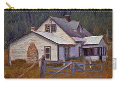 Abandoned Farm House Carry-all Pouch by Richard Farrington