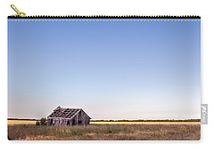 Carry-all Pouch featuring the photograph Abandoned Farmhouse In A Field by Todd Aaron