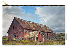 Carry-all Pouch featuring the photograph Abandoned Red Barn by Alana Ranney