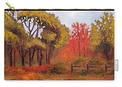 Carry-all Pouch featuring the painting Abeel Fields by Jason Williamson