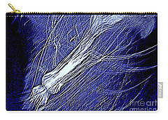 Carry-all Pouch featuring the photograph Aberration Of Jelly Fish In Rhapsody Series 5 by Antonia Citrino