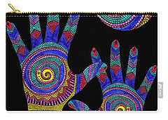 Aboriginal Hands To The Sun Carry-all Pouch