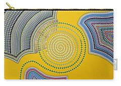 Carry-all Pouch featuring the painting Aboriginal Inspirations 35 by Mariusz Czajkowski