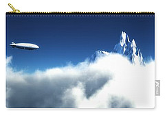 Carry-all Pouch featuring the digital art Above The Clouds... by Tim Fillingim