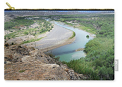 Carry-all Pouch featuring the photograph Above The Rio Grande by Judy Hall-Folde