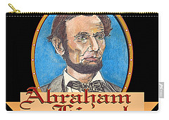 Abraham Lincoln Graphic Carry-all Pouch by John Keaton