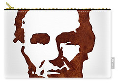 Carry-all Pouch featuring the painting Abraham Lincoln Original Coffee Painting by Georgeta  Blanaru