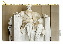Abraham Lincolns Statue In A Memorial Carry-all Pouch by Panoramic Images