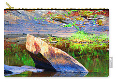 Carry-all Pouch featuring the photograph Abstact Rock				 by Aaron Martens