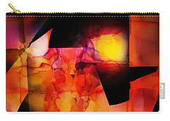 Carry-all Pouch featuring the digital art Abstract 012615 by David Lane