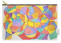 Carry-all Pouch featuring the painting Faces And Places by Stormm Bradshaw