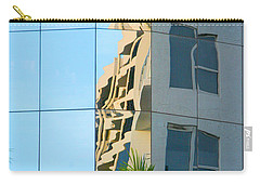 Carry-all Pouch featuring the photograph Abstract Architectural Shapes by Mariarosa Rockefeller