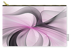 Abstract Art Fractal With Pink Carry-all Pouch