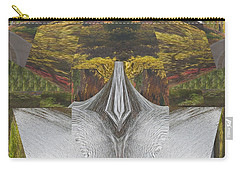 Abstract Art Shemale Treetrunk Nature Natural Eyes Breast   Graphic Artistic Conversion Of Photograp Carry-all Pouch