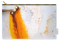 Carry-all Pouch featuring the photograph Abstract Boat Detail by Silvia Ganora