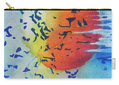 Carry-all Pouch featuring the painting Abstract by Chrisann Ellis