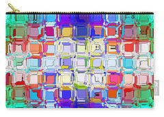 Abstract Color Blocks Carry-all Pouch by Anita Lewis