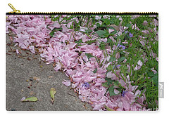 Carry-all Pouch featuring the photograph Abstract Diagonal Pink Petals by Christina Verdgeline