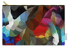 Carry-all Pouch featuring the digital art Abstract Distraction by David Lane