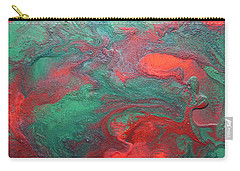 Abstract Evergreen Carry-all Pouch