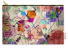 Carry-all Pouch featuring the digital art Abstract Expressionism by Phil Perkins