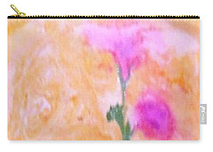 Carry-all Pouch featuring the painting Abstract Floral by Mike Breau