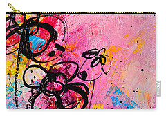 Abstract Flowers In Hot Pink 1 Carry-all Pouch