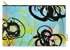 Abstract Flowers Silhouette 4 Carry-all Pouch