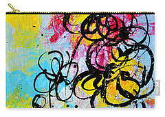 Abstract Flowers Silhouette 5 Carry-all Pouch