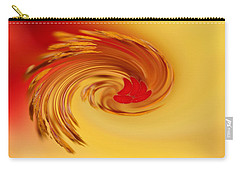 Abstract Swirl Hibiscus Flower Carry-all Pouch by Debbie Oppermann