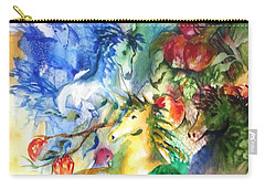Abstract Horses Carry-all Pouch