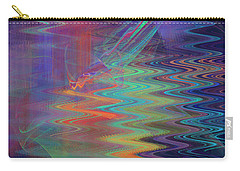 Abstract In Blue And Purple Carry-all Pouch by Jane McIlroy