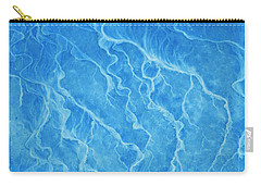 Abstract In Sea Blue Carry-all Pouch