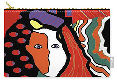 Abstract Lady Carry-all Pouch