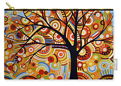 Abstract Modern Tree Landscape Thoughts Of Autumn By Amy Giacomelli Carry-all Pouch