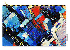 Abstract New York Sky View Carry-all Pouch by Mona Edulesco