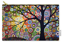 Abstract Original Modern Tree Landscape Visons Of Night By Amy Giacomelli Carry-all Pouch