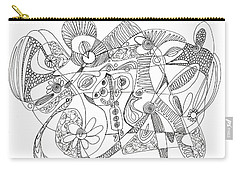 Abstract Pen Drawing Thirty-eight Carry-all Pouch