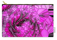 Abstract Pink Rose Mosaic Carry-all Pouch