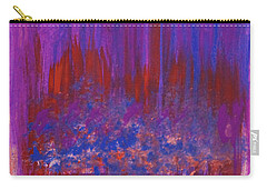 Abstract Purple And City Lights Carry-all Pouch