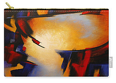 Abstract Red Blue Yellow Carry-all Pouch